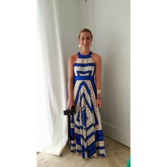 0259f2c8df Eliza J Dresses & Skirts - Scarf Print Crêpe de Chine Fit & Flare Maxi Dress